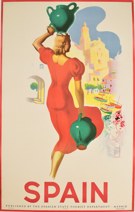 Spain Lady in Red