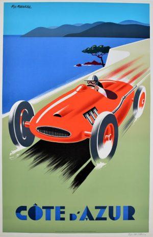 Cote d' Azur Red Car