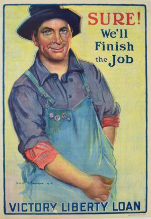 Sure We'll Finish The Job Victory Liberty Loan